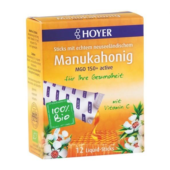 hoyer-bio-manuka-honning-liquid-sticks-mgo-100-active-12-poser