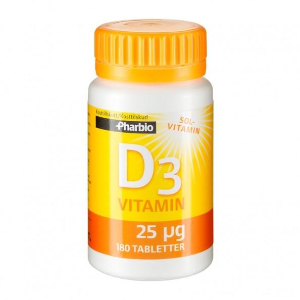 pharbio-d3-vitamin-180-tabletter