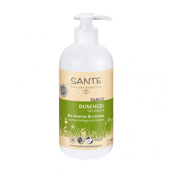sante-family-showergel-okologisk-pineapple-lemon-500-ml