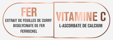 Meilleure biodisponibilité grâce au bisglycinate de fer et à la vitamine C