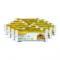 12 x Organic Food Bar Omega-3 Flax, økologisk energi-bar