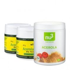 2 x allcura, Acérola bio, poudre + nu3 Acérola bio, poudre