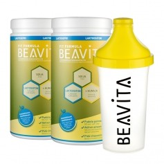 2 x BEAVITA Vitalkost laktoositon -jauhe + Slim Shaker