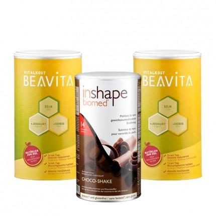 2 x BEAVITA Vitalkost plus InShape-Biomed® Schokolade, Pulver