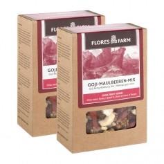 2 x Flores Farm Premium Bio Goji-Maulbeeren-Mix