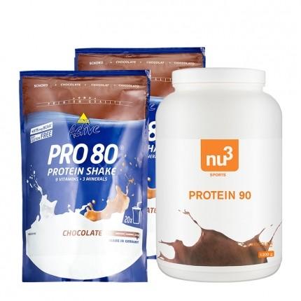 2 x Inkospor, Pro 80 chocolat + nu3 Protéine 90 chocolat
