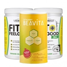2 x Layenberger Fit+Feelgood, Shake banane fromage blanc + BEAVITA Vitalkost