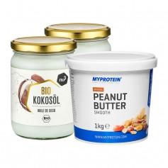 2 x nu3 Bio Kokosöl + MyProtein Erdnussbutter fein