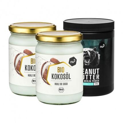 2 x nu3 Bio Kokosöl plus nu3 Peanut Butter