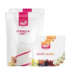 2 x nu3 Formula Diet plus 3 x nu3 Bio-Flavorites Berry Burst
