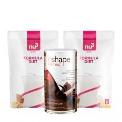 2 x nu3 Formula Diet, Pulver plus InShape-Biomed® Schokolade, Pulver