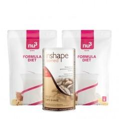 2 x nu3 Formula Diet, Pulver plus InShape-Biomed Café-Shake, Pulver