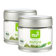2 x nu3 Organic Matcha Tea Powder