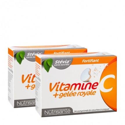 Nutrisanté, Vitamine C + gelée royale, 2 x 24 cp - nu3