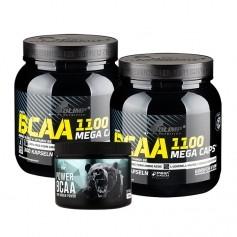 2 x Olimp BCAA Mega Caps + nu3 BCAA, kapslar