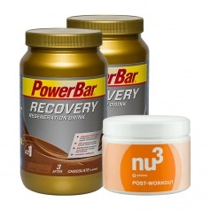 2 x Powerbar, Recovery drink + nu3 Post-workout, poudre