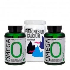 2 x PurePharma Omega-3 + Vitalia Magnesium + Kalcium