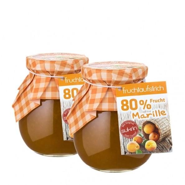 2 x sukrin fruchtaufstrich aprikose mit sukrin statt zucker. Black Bedroom Furniture Sets. Home Design Ideas