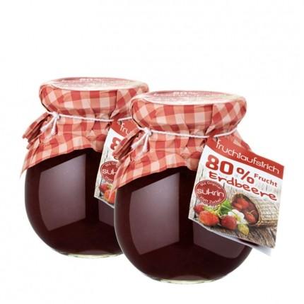 2 x sukrin fruchtaufstrich erdbeere mit sukrin statt zucker. Black Bedroom Furniture Sets. Home Design Ideas