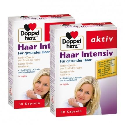 Doppelherz Haar Intensiv Doppelpack, Kapseln