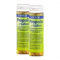 Hoyer Propolis und Salbei Bio Doppelpack, Lutschtabletten
