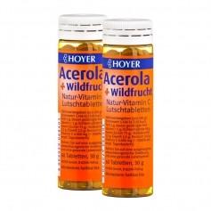 Hoyer Acerola und Wildfrucht mit Vitamin C Doppelpack, Lutschtabletten