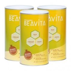 3 x BEAVITA Vitalkost, Choklad, Pulver