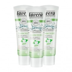 3 x Lavera basis sensitiv Zahncreme Mint