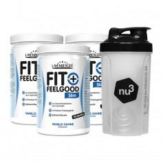 3 x Layenberger Fit+Feelgood Schlank-Diät Vanille-Sahne + nu3 Shaker