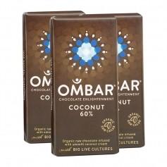 3 x Ombar Bio Coconut 60 % Rohe Schokolade