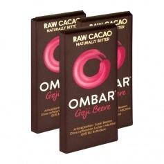 3 x Ombar Bio Goji Berry Rohe Schokolade
