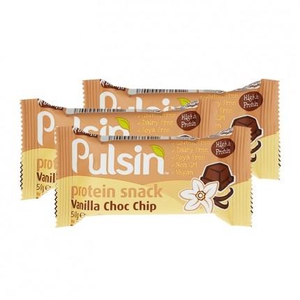 3 x pulsin vanilla choc chip veganer protein snack. Black Bedroom Furniture Sets. Home Design Ideas