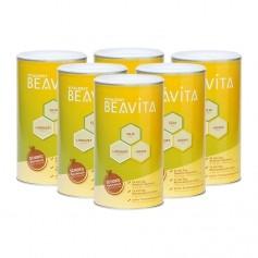 6 x BEAVITA Vitalkost, Choklad, Pulver
