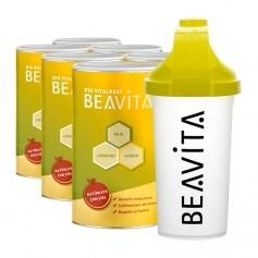 6 x BEAVITA Vitalkost mit Slim Shaker