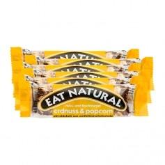 EAT NATURAL Nuss-und Fruchtriegel mit Zartbitterschokolade, Erdnuss-Popcorn