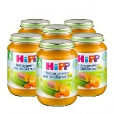6 x HiPP Buttergemüse mit Süßkartoffeln, Bio-Gemüsebrei