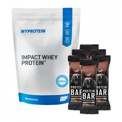 nu3 Protein Bar 40% Schoko, + MyProtein Impact Whey Vanilla, Pulver