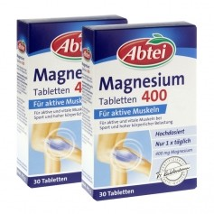 2 x Abtei Magnesium 400, Tabletten