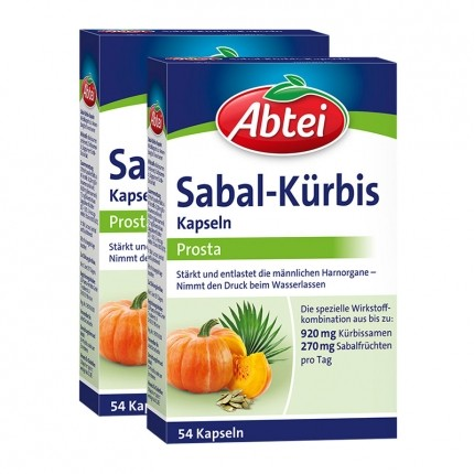 Sabal-Kürbis Prosta (2 x 54 Kapseln)