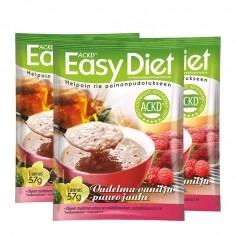 3 x ACKD Easy Diet Vadelma-vaniljapuuro