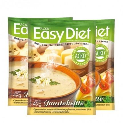 3 x ACKD Easy Diet Juustokeitto