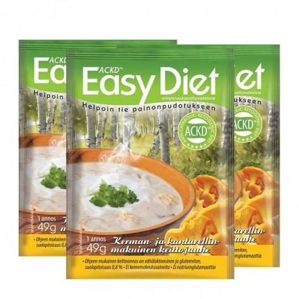 3 x ACKD Easy Diet Kantarellikeitto