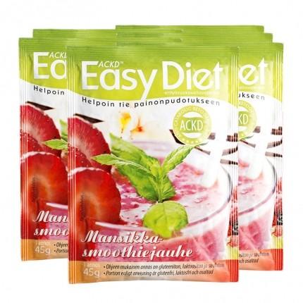 6 x ACKD Easy Diet Mansikkapirtelö