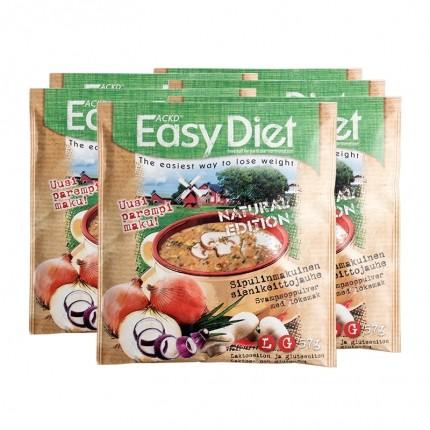 6 x ACKD Easy Diet Natural Edition - Løg -og svampesuppe