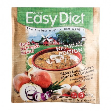 3 x ACKD  Easy Diet Natural Edition Sipuli-sienikeitto