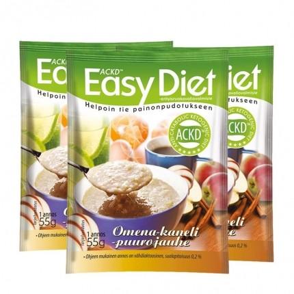 3 x ACKD Easy Diet Omena-kanelipuuro