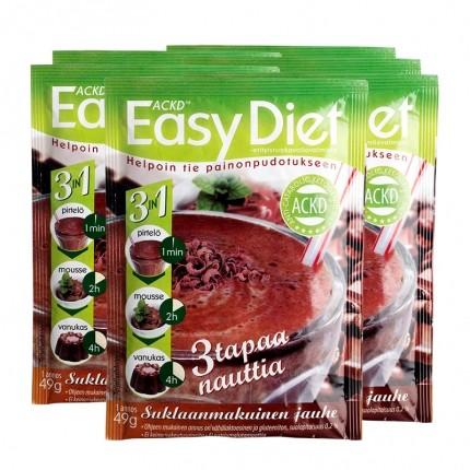 6 x ACKD Easy Diet Smoothie, chokolade