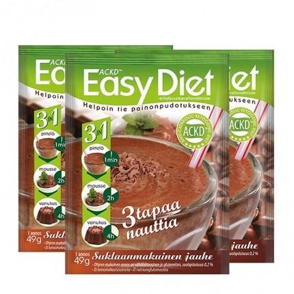 3 x ACKD Easy Diet Suklaapirtelö