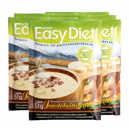 6 x ACKD Easy Diet, suppe med røget rensdyr