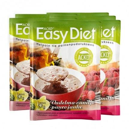 6 x ACKD Easy Diet Vadelma-vaniljapuuro